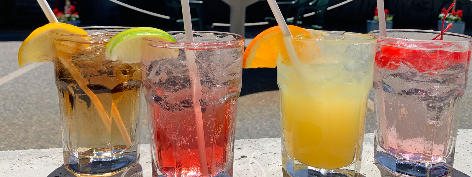 Sunday fun day cocktails outside